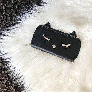 Cute Cat Wallet Black Bag Purse Kitty Kitten